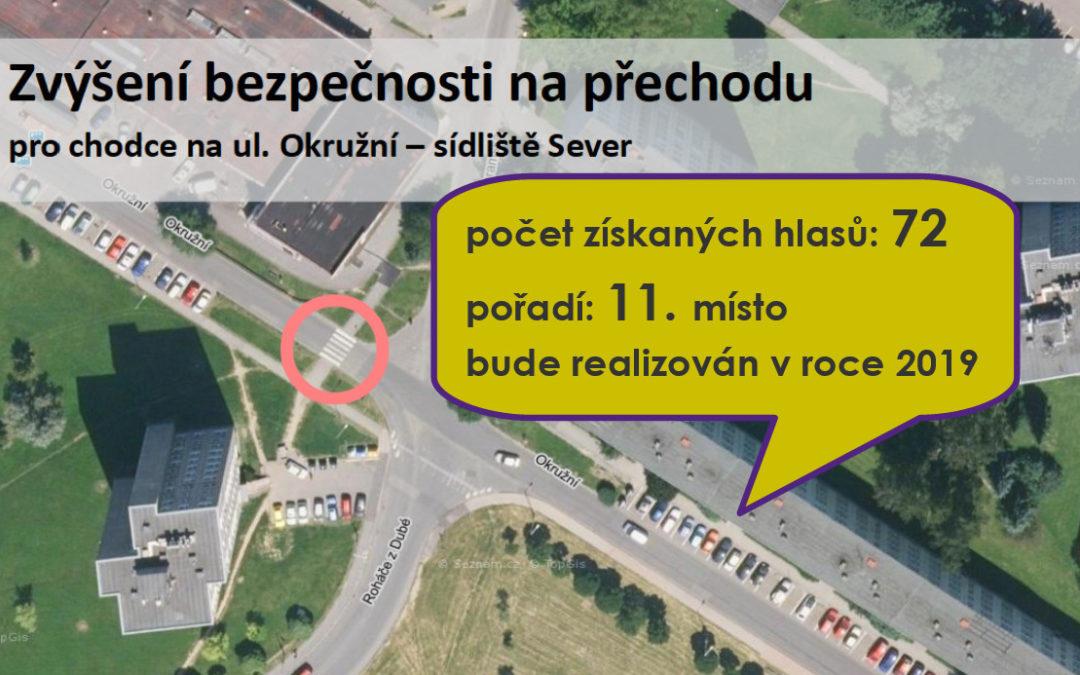 16 Zvýšení bezpečnosti na přechodu pro chodce na ul. Okružní – sídliště Sever