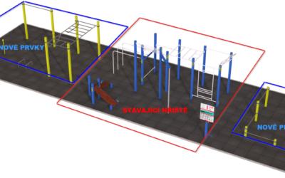 29 Venkovní tělocvična – doplnění plochy workoutového hřiště u stadionu o další cvičební prvky