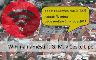 25 WiFi na náměstí T.G.M.