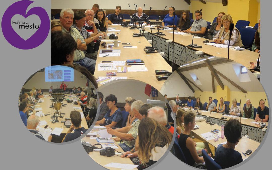Setkání s autory návrhů 13. 9. v místnosti Zastupitelstva města Česká Lípa
